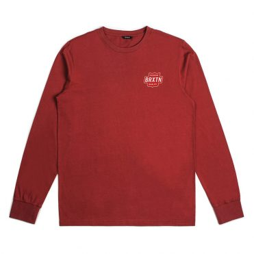 Brixton Garth Long Sleeve T-Shirt Brick