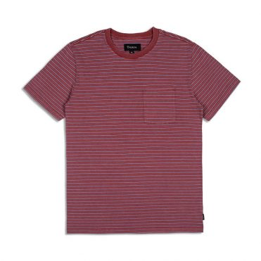 Brixton Hilt Pocket Knit Shirt Brick