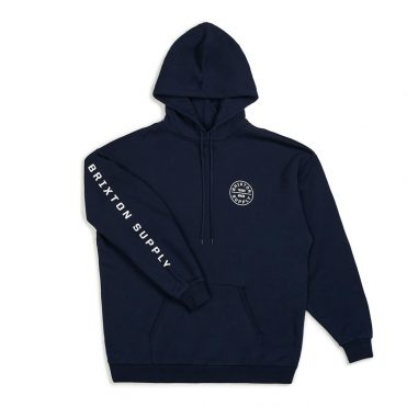 Brixton Oath SV Fleece Hooded Sweatshirt Navy White