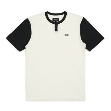 Brixton Potrero Henley T-Shirt Off White Black