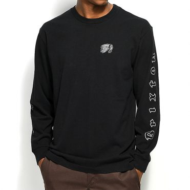 Brixton Primo Long Sleeve T-Shirt Black Grey