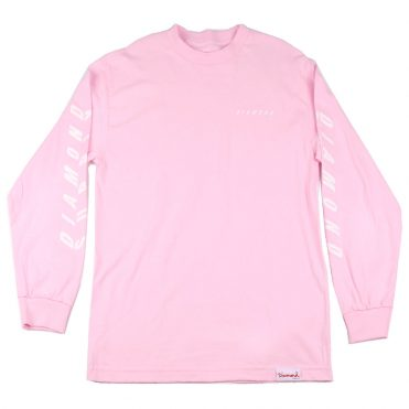 Diamond Supply Co Diamond Tilt Long Sleeve T-Shirt Pink