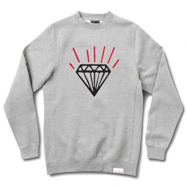 Diamond Supply Co Gem Crewneck Sweatshirt Heather Grey