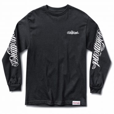 Diamond Supply Co Giant Script Long Sleeve T-Shirt Black
