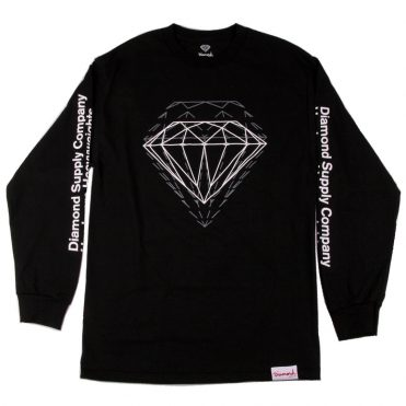 Diamond Supply Co Offset Long Sleeve T-Shirt Black