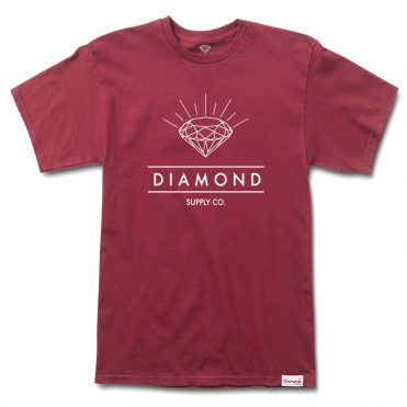 Diamond Supply Co Radiance T-Shirt Burgundy
