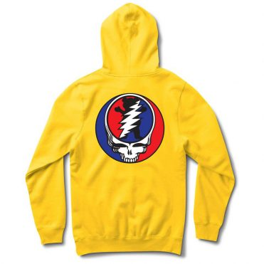 Grizzly x Grateful Dead Hooded Sweatshirt Yellow