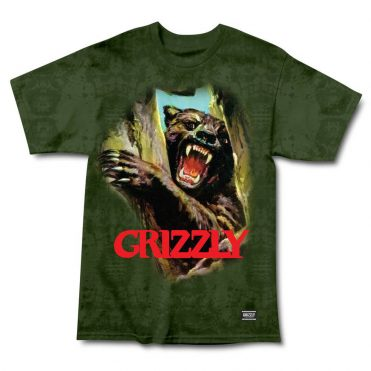 Grizzly Hunting Season T-Shirt Green Tye Die
