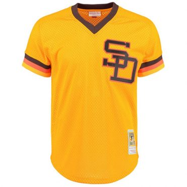 Mitchell & Ness San Diego Padres Authentic Mesh BP 1982 Jersey Yellow