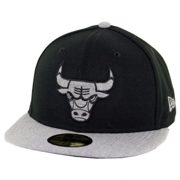 New Era 59Fifty Chicago Bulls Heather Fresh Fitted Hat Black Heather Grey