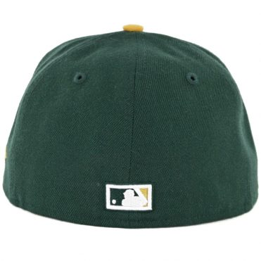 New Era 59Fifty Oakland Athletics 1988-1992 Cooperstown Fitted Hat Dark Green Gold