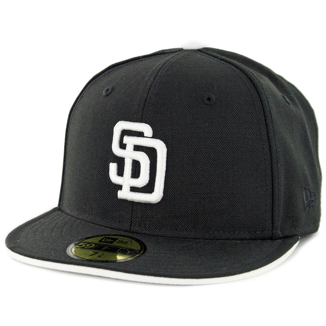 3b387865c9f New Era 59Fifty San Diego Padres Turn Ahead The Clock Cooperstown Fitted  Hat Black - Billion Creation Streetwear
