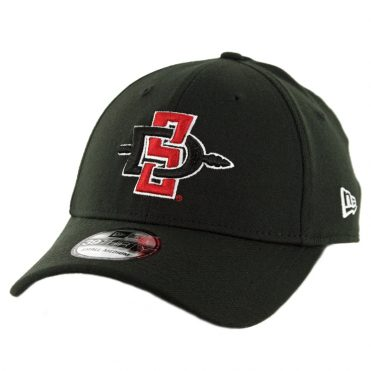 New Era 39Thirty San Diego State University Aztecs Stretch Fit Hat Black