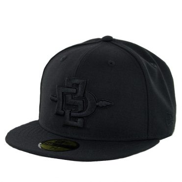 New Era 59Fifty San Diego State University Aztecs Fitted Hat Black