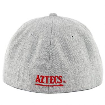 New Era 59Fifty San Diego State University Aztecs Fitted Hat Heather Grey Black