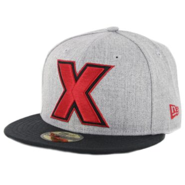 "New Era 59Fifty Tijuana Xolos ""X"" Logo Fitted Hat Heather Grey Red Black"
