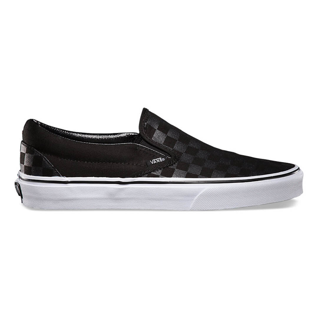 latest sale outlet store crazy price Vans Checkerboard Slip-On Shoe Black Check - Billion ...