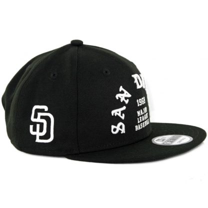 New Era 9Fifty San Diego Padres Team Delux Snapback Hat Black