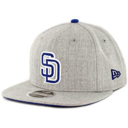 New Era 9Fifty San Diego Padres Heather Hype Snapback Hat Heather Grey