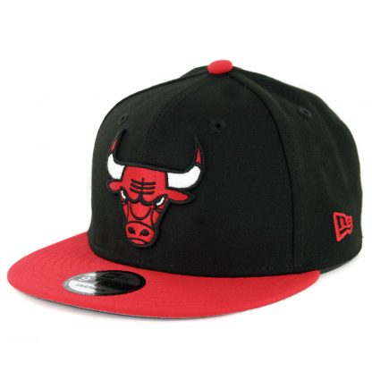 New Era 9Fifty Chicago Bulls Side Stated Snapback Hat Black Red