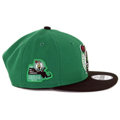 New Era 9Fifty Boston Celtics Side Stated Snapback Hat Kelly Green Black