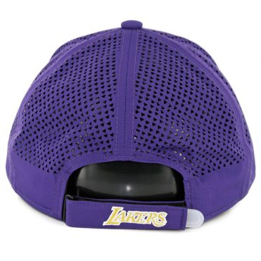 New Era 9Forty Los Angeles Lakers Performance Pivot Two Strapback Hat Purple