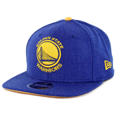 New Era 9Fifty Golden State Warriors Heather Hype Snapback Hat Heather Royal Blue