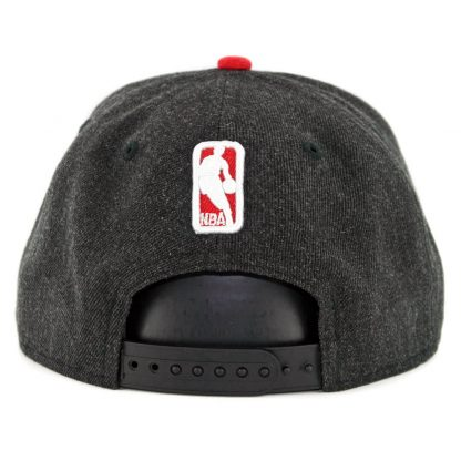 New Era 9Fifty Chicago Bulls Heather Hype Snapback Hat Heather Black
