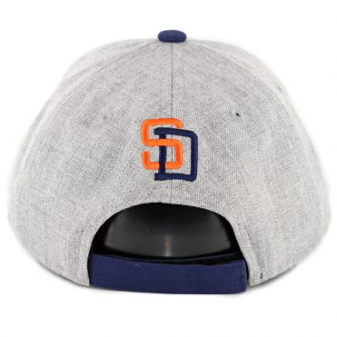 New Era 9Forty San Diego Padres The League Cooperstown 1991 Strapback Hat Heather Grey Navy