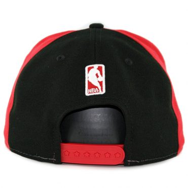 New Era 9Fifty Chicago Bulls Team Retro Wheel Snapback Hat Red White Black