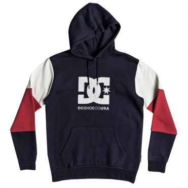 DC Shoes Doney Pullover Hooded Sweatshirt Dark Indigo
