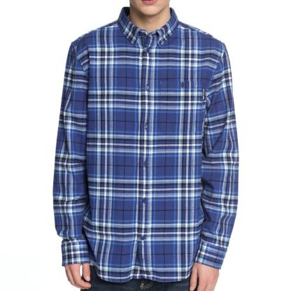DC Shoes South Ferry Long Sleeve Shirt Sodalite Blue