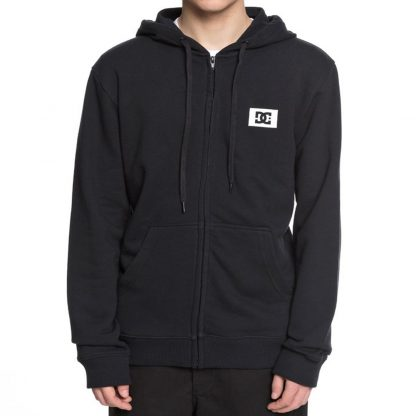 DC Shoes Stage Box Zip Up Hooded Sweatshirt Black