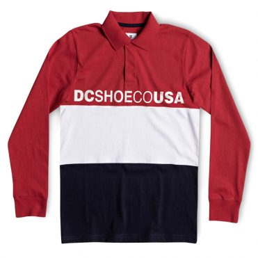 DC Shoes Stewardson Long Sleeve Polo Shirt Tango Red