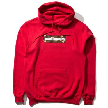 The Hundreds Camo Bar Pullover Hooded Sweatshirt Red