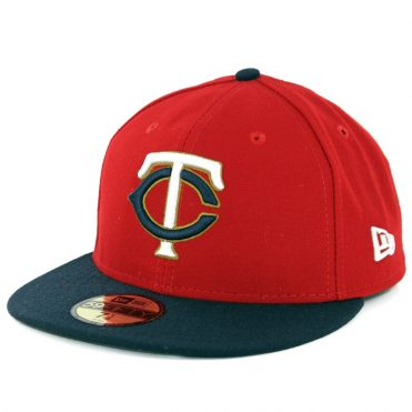 New Era 59Fifty Minnesota Twins Alternate 2 Authentic On Field Fitted Hat Red Navy