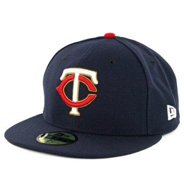 New Era 59Fifty Minnesota Twins Alternate 1 Authentic On Field Fitted Hat Navy