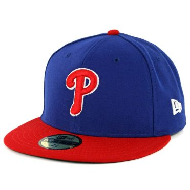 New Era 59Fifty Philadelphia Phillies Alternate 1 Authentic On Field Fitted Hat Royal Red