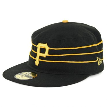 New Era Pittsburgh Pirates Alternate 2 Pill Box Authentic On Field Fitted Hat Black