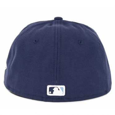 New Era 59Fifty Tampa Bay Rays Game Authentic On Field Fitted Hat Light Navy