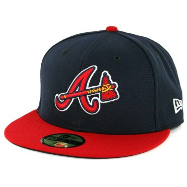 New Era 59Fifty Atlanta Braves 2017 Alternate 1 Authentic On Field Fitted Hat Dark Navy Red