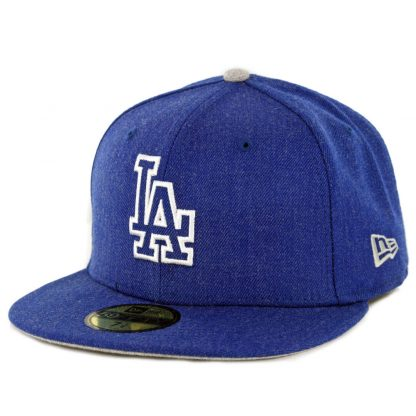New Era 59Fifty Los Angeles Dodgers Heather Hype Fitted Hat Heather Royal Blue