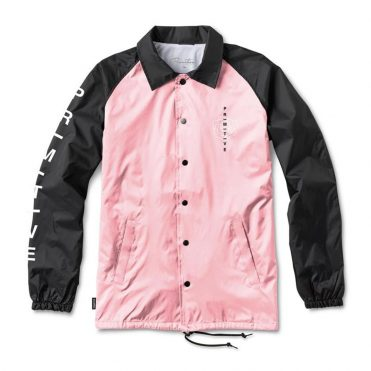 Primitive Embroidered Club Coach Jacket Pink