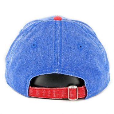 New Era 9Twenty Montreal Expos Rugged Canvas Strapback Hat Royal Blue