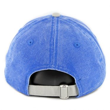 New Era 9Twenty Brooklyn Dodgers Rugged Canvas Strapback Hat Royal Blue