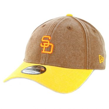New Era 9Twenty San Diego Padres '80-'84 Rugged Canvas Strapback Hat Brown
