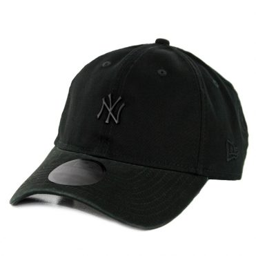 New Era 9Twenty New York Yankees Micro Matte Strapback Hat Black