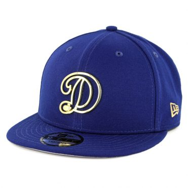New Era 9Fifty Los Angeles Dodgers Metal Framed Snapback Hat Dark Royal