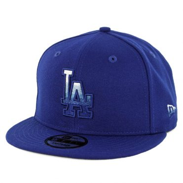 New Era 9Fifty Los Angeles Dodgers Faded Front Snapback Hat Dark Royal