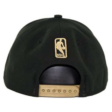 New Era 9Fifty Golden State Warriors Metal Framed Snapback Hat Black
